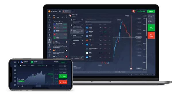 แอพ iq option Desktop และ Mobile